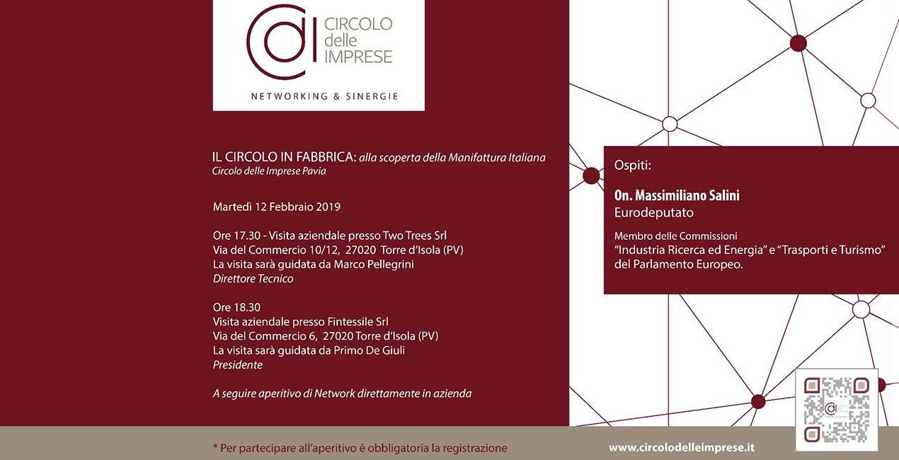 Il CIRCOLO IN FABBRICA: alla scoperta della Manifattura Italiana, Circolo delle Imprese Pavia