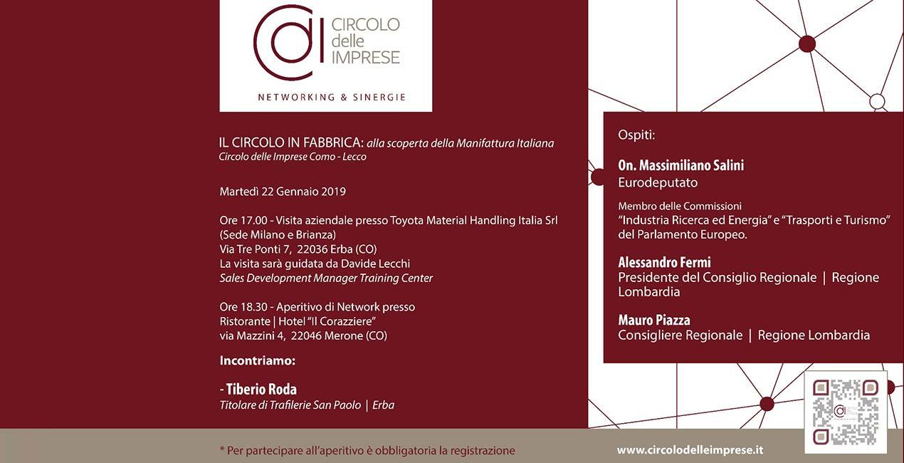 IL CIRCOLO IN FABBRICA: alla scoperta della Manifattura Italiana
