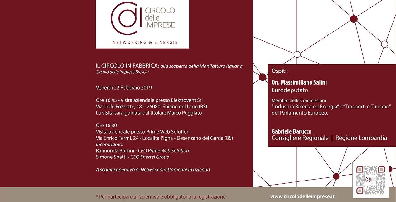 IL CIRCOLO IN FABBRICA: alla scoperta della manifattura italiana, Circolo delle Imprese Brescia