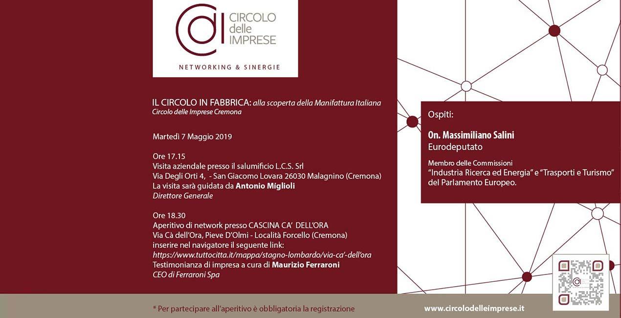 IL CIRCOLO IN FABBRICA: alla scoperta della manifattura italiana, Circolo delle Imprese Cremona