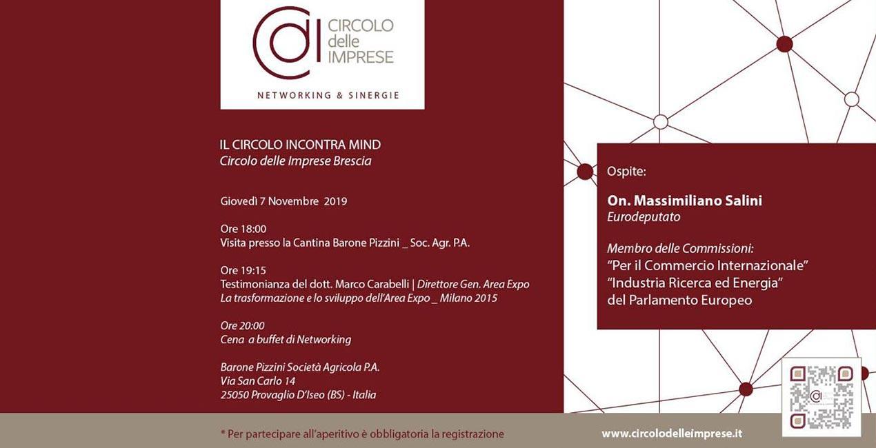 IL CIRCOLO INCONTRA MIND, Circolo delle Imprese Brescia