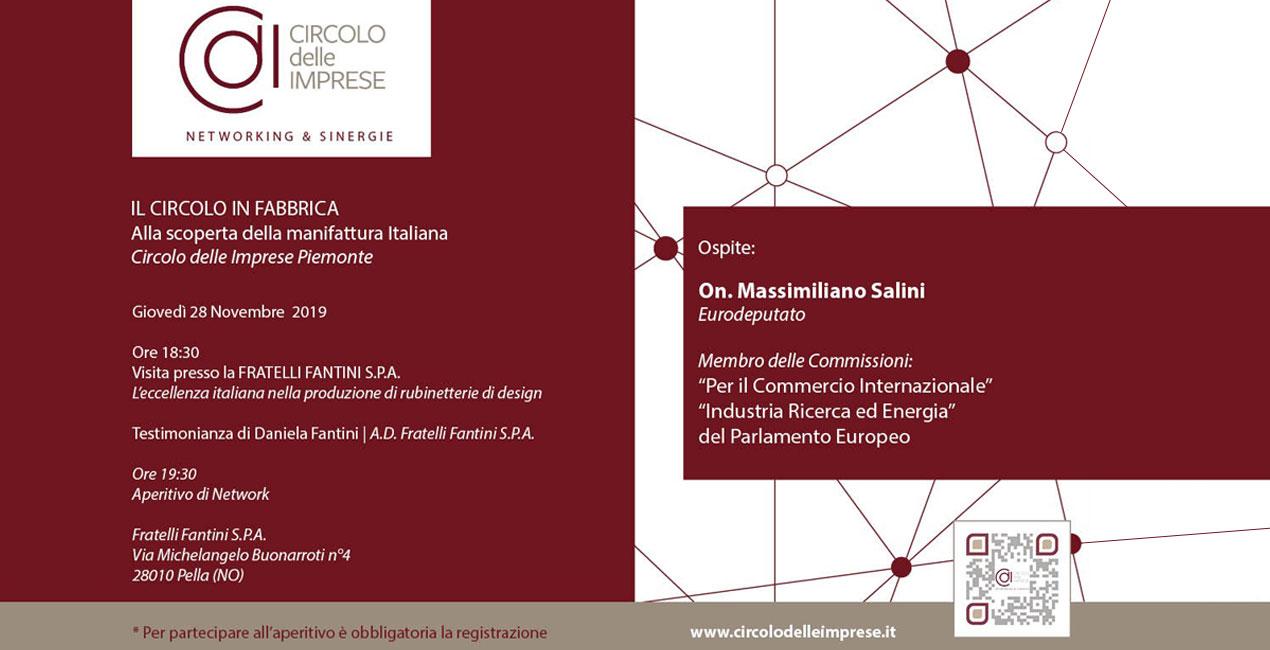 IL CIRCOLO IN FABBRICA: Alla scoperta della manifattura italiana, Circolo delle Imprese Piemonte