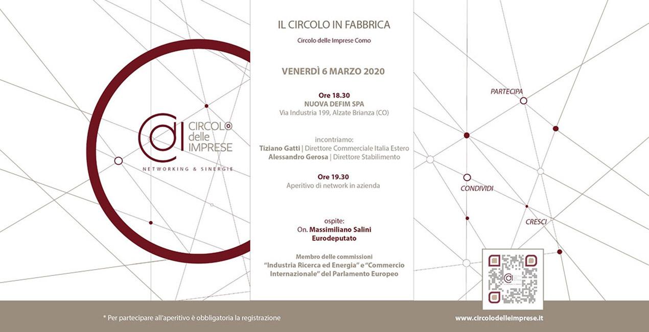 IL CIRCOLO IN FABBRICA: alla scoperta della manifattura italiana, Circolo delle Imprese Como