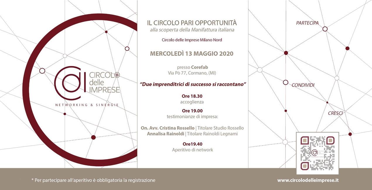 IL CIRCOLO PARI OPPORTUNITÀ: alla scoperta della manifattura italiana, Circolo delle Imprese Milano Nord