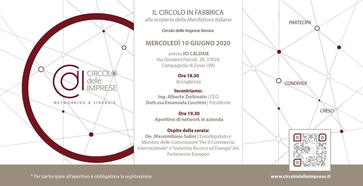 IL CIRCOLO IN FABBRICA: alla scoperta della manifattura italiana, Circolo delle Imprese Verona