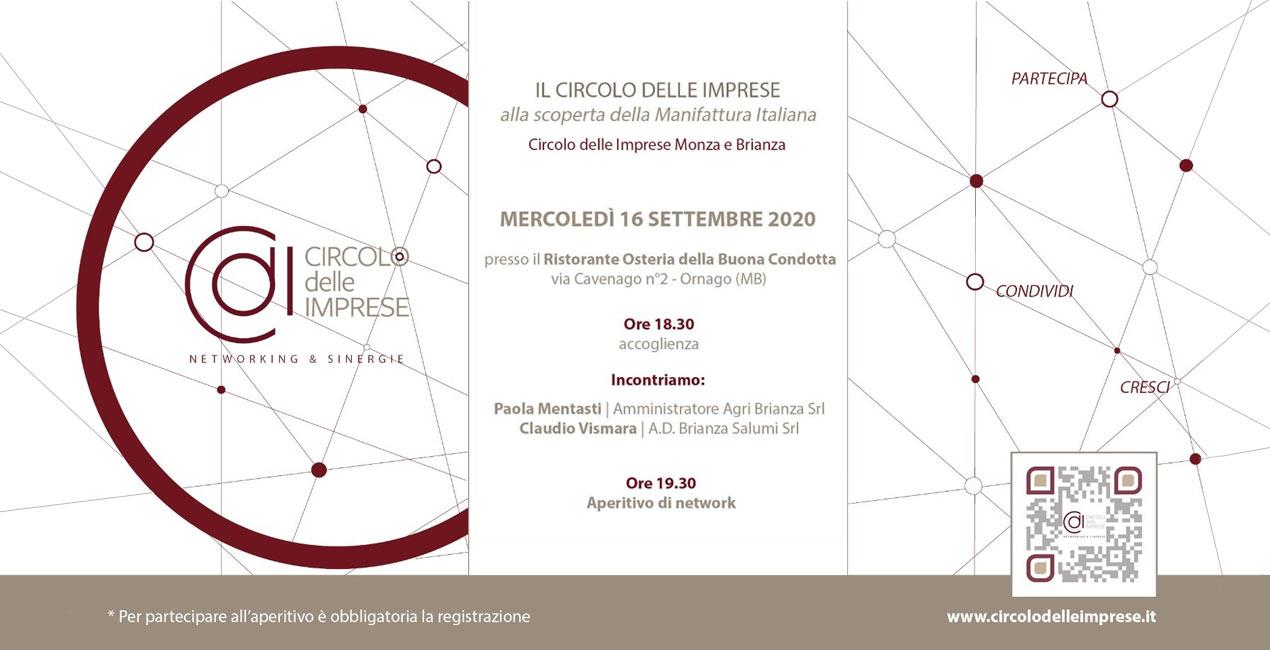 IL CIRCOLO DELLE IMPRESE: alla scoperta della manifattura italiana, Circolo delle Imprese Monza e Brianza