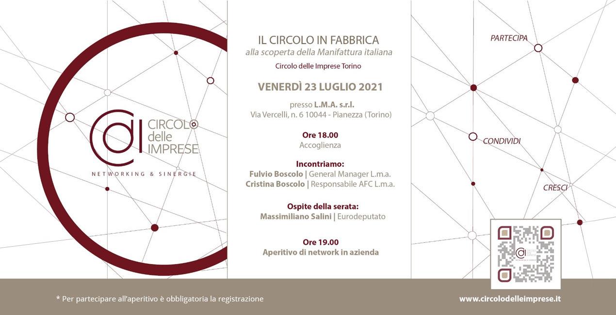 IL CIRCOLO IN FABBRICA: alla scoperta della manifattura italiana, Circolo delle Imprese Torino
